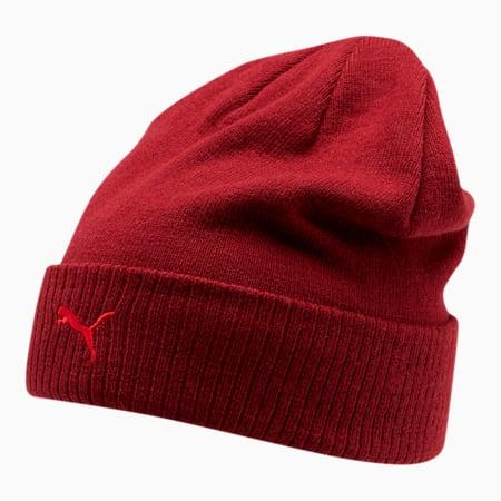 Sitio de PUMA Gorro de lana con dobladillo para hombre, Rojo oscuro, pequeño