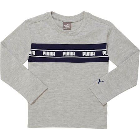 Amplified Pack Toddler Pieced Long Sleeve Tee, LT HEATHER GREY, small