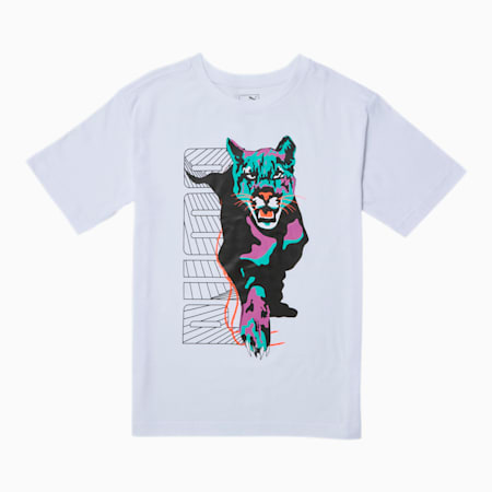 Claw Pack Boys' Graphic Tee JR, PUMA WHITE, small