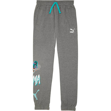 Claw Pack Boys' Fleece Joggers JR, CHARCOAL HEATHER, small
