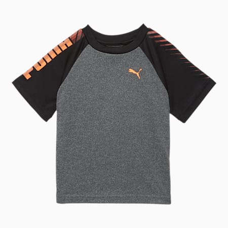 Collective Colorblock Toddler Tee, CHARCOAL HEATHER, small