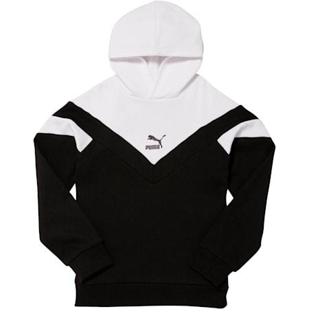 MCS Pack Boys' Colorblocked Hoodie JR, PUMA BLACK/WHITE, small