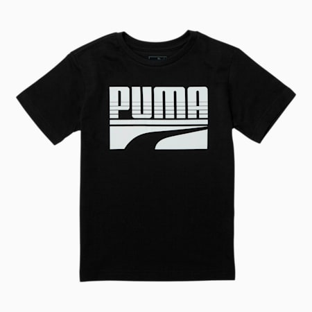 Rebel Pack Little Kids' Graphic Tee, PUMA BLACK, small