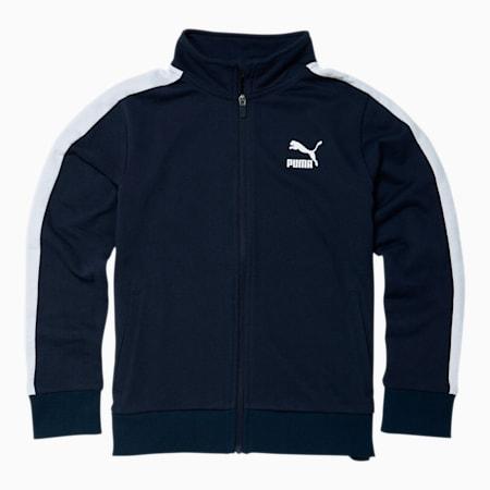 Boys' T7 Track Jacket JR, PEACOAT, small