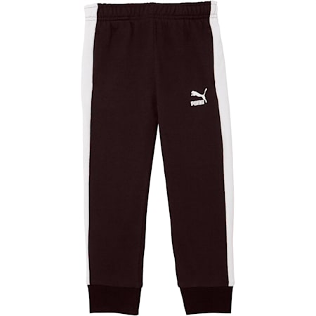 Little Kids' T7 Track Pants, PUMA BLACK/WHITE, small