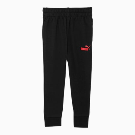 No.1 Logo Toddler French Terry Joggers, PUMA BLACK, small