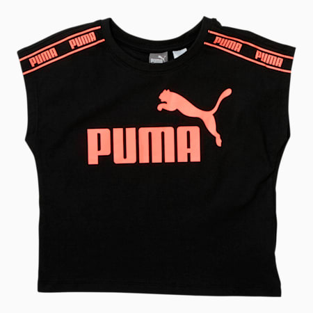 Amplified Pack Little Kids' Fashion Tee, PUMA BLACK, small