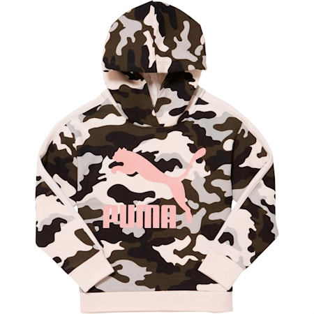 Classics Camo Archive Logo Little Kids' Fleece Hoodie, FOREST NIGHT, small