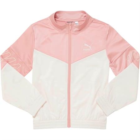 LuXTG Girls' Track Jacket JR, BRIDAL ROSE, small