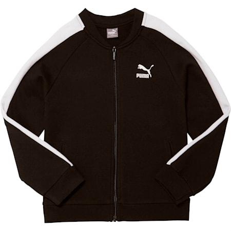 Girls' T7 Track Jacket JR, PUMA BLACK, small