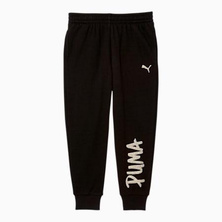 Pantalones deportivos de polar con puño Tag para niños pequeños, PUMA BLACK, pequeño