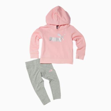 Conjunto de chaqueta y leggings de polar para bebés , CRYSTAL ROSE, pequeño