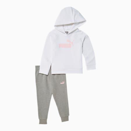 Conjunto dechaqueta con capucha y pantalones de polarpara infantes + bebés, PUMA WHITE, pequeño