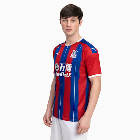 Crystal Palace Men's Home Replica Jersey, Blue/Red, small