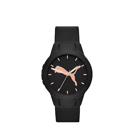 Reloj para mujer Reset Polyurethane V2, Black/Black, small