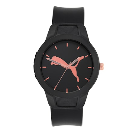 Reset Polyurethane V2 Women's Watch, Black/Black, small-IND