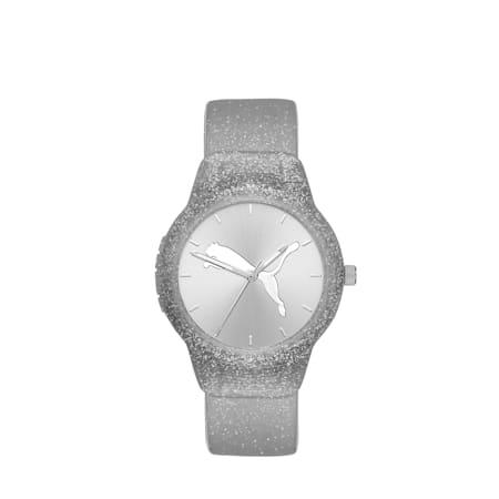 ウィメンズ リセット ポリウレタン V2  時計, Silver/Silver, small-JPN