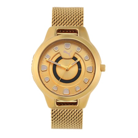 Reset Stainless Steel V1 Women's Watch, Gold/Gold, small-IND