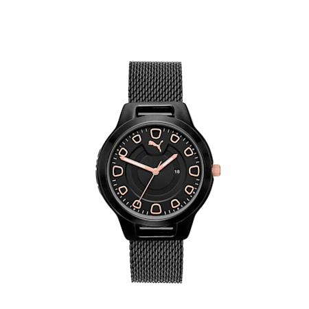Damski zegarek ze stali nierdzewnej Reset V1, Black/Black, small