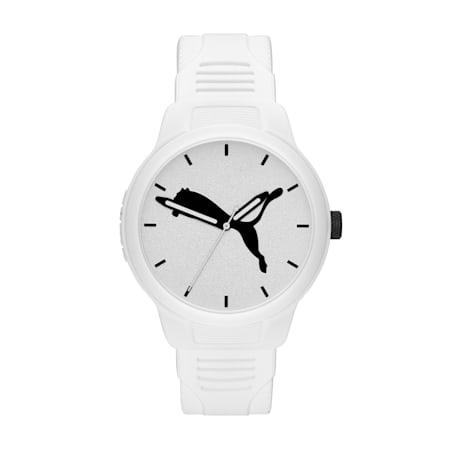 Męski zegarek poliuretanowy Reset V2, White/White, small