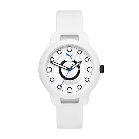 メンズ リセット シリコン V1  時計, White/White, small-JPN