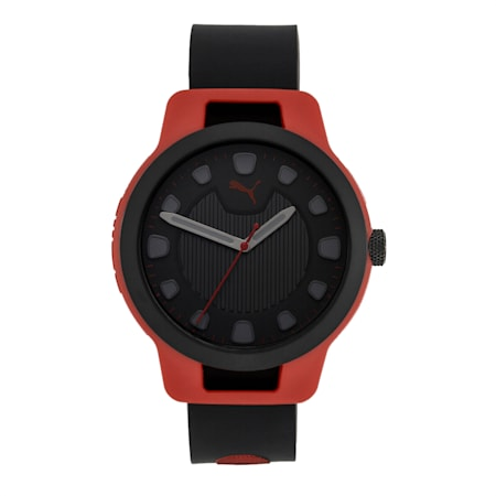 Reset Silicone V1 Men's Watch, Red/Black, small-IND