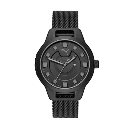 Męski zegarek ze stali nierdzewnej Reset V1, Black/Black, small