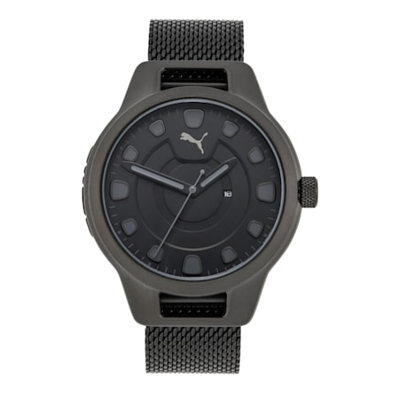 Reset Stainless Steel V1 Men's Watch, Black/Black, small-IND