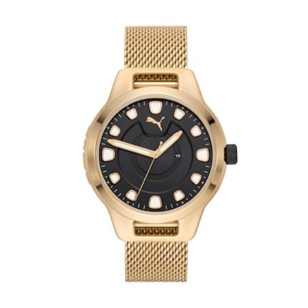 Męski zegarek ze stali nierdzewnej Reset V1, Gold/Gold, small