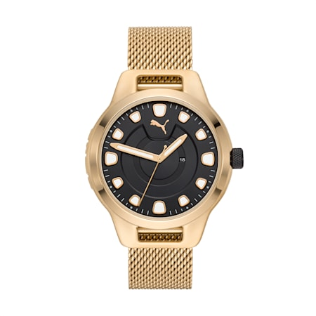 Reset Stainless Steel V1 Men's Watch, Gold/Gold, small