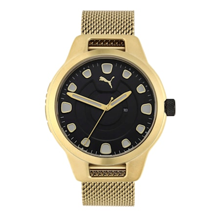 Reset Stainless Steel V1 Men's Watch, Gold/Gold, small-IND