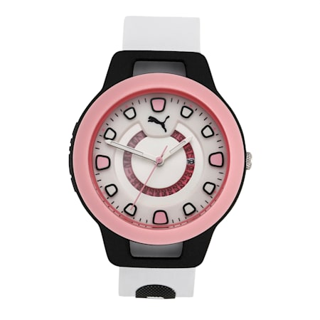 Reset Silicone Women's Watch, Black/White, small-IND