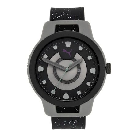 Reset Silicone Men's Watch, Grey/Black, small-IND