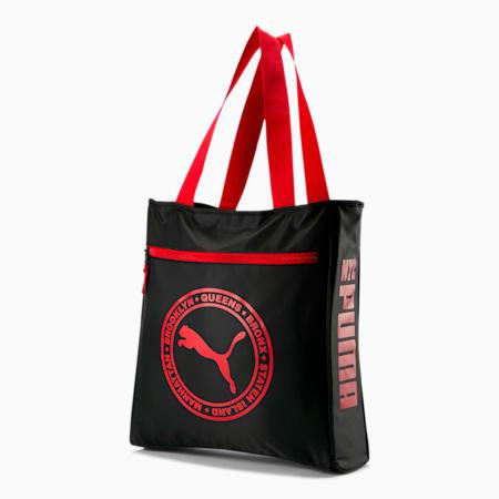 Boroughs Tote Bag, Black/Red, small