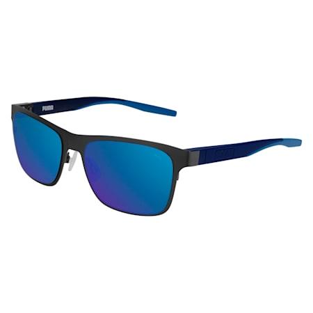 Strand Rectangle Sunglasses, RUTHENIUM, small