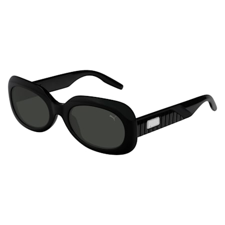Ruby Oval Sunglasses, BLACK, small