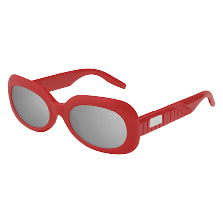 Ruby Oval Sunglasses, RED, small
