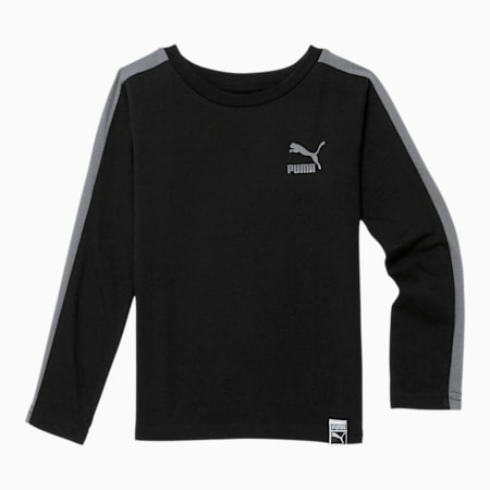 Luxe Pack Toddler T7 Long Sleeve Tee, PUMA BLACK, small