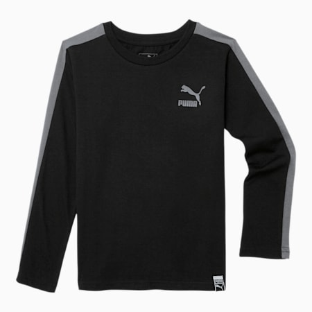 Luxe Pack Little Kids' T7 Long Sleeve Tee, PUMA BLACK, small