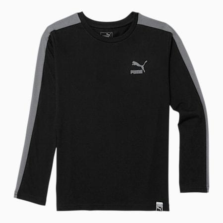 Luxe Pack Boys' T7 Long Sleeve Tee JR, PUMA BLACK, small