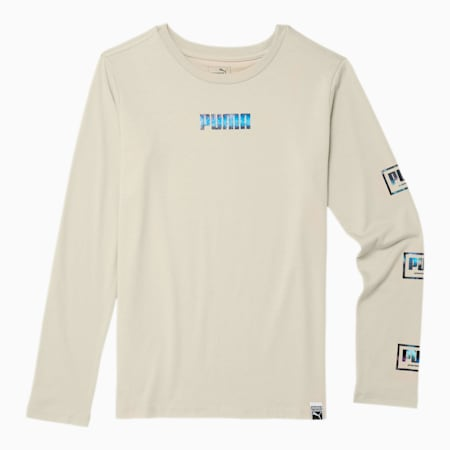 Holiday Pack Boys' Long Sleeve Graphic Tee JR, OVERCAST, small