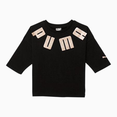 Classics Little Kids' 3/4 Sleeve Fashion Tee, PUMA BLACK, small