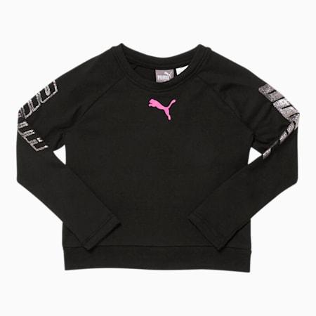 Modern Sports Toddler Long Sleeve Fashion Tee, PUMA BLACK, small