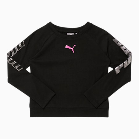 Modern Sports Little Kids' Long Sleeve Fashion Tee, PUMA BLACK, small