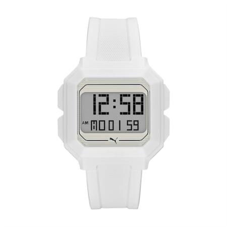 Remix White Digital Watch, White/White, small