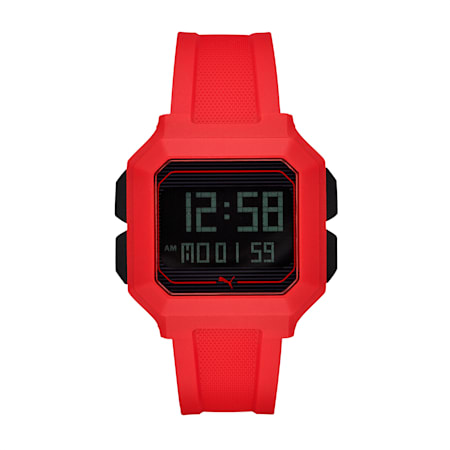 Remix Red Digital Watch, Red/Red, small