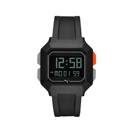 REMIX Unisex Digital Watch, Black/Black, small