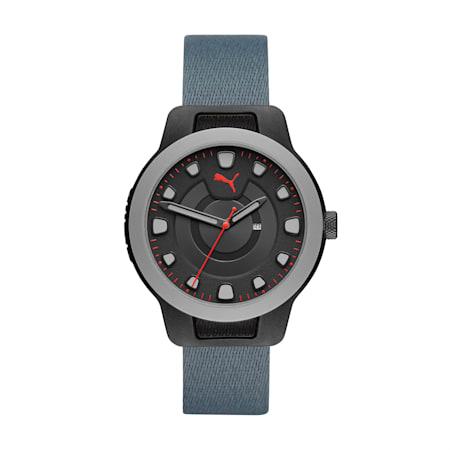 RESET V1 Herren Uhr im Wendedesign mit Nylonarmband, Blue/Red, small