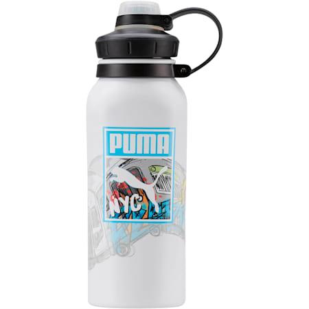 PUMA Hammerhead Water Bottle, White Blue, small