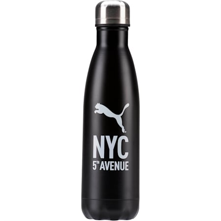 NYC Flagship Water Bottle, BLACK, small
